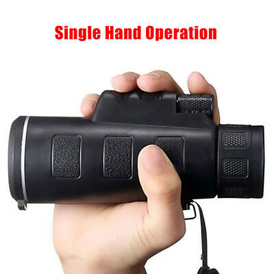 High Power 40X60 Portable HD OPTICS BAK4 Night Vision Monocular Telescope