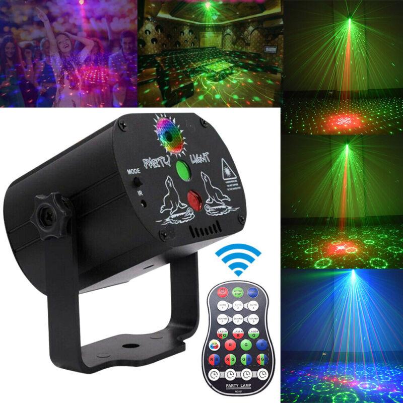 30 Patterns Projector LED RGB Laser Stage Light DJ Disco KTV Home Party Lighting