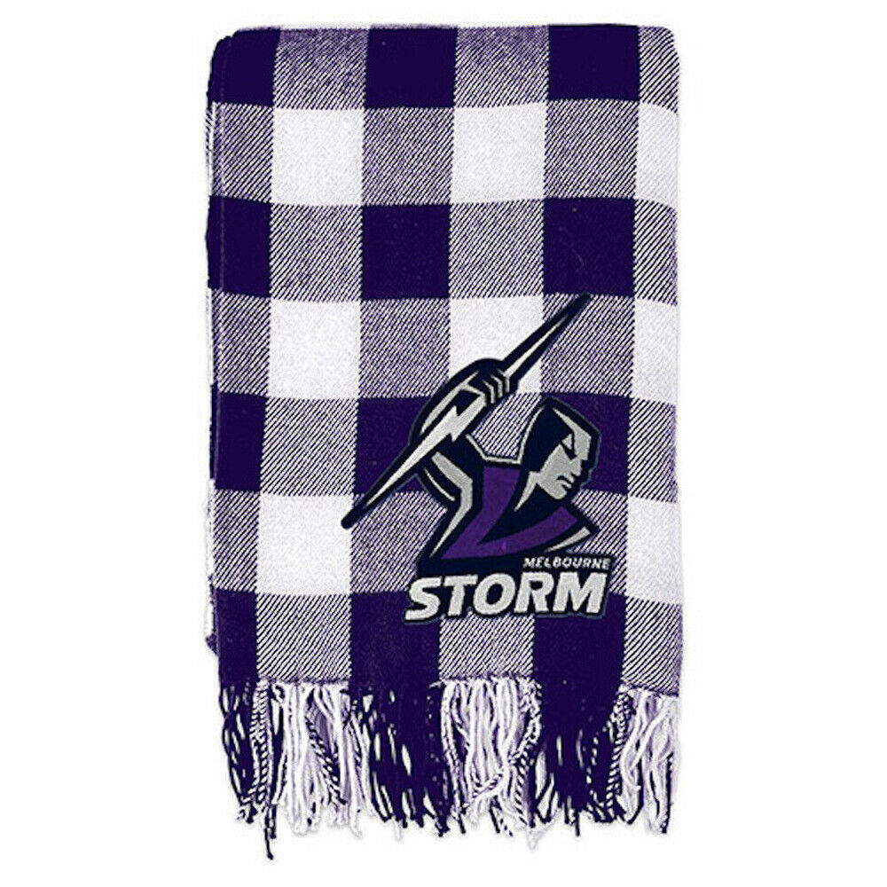 Melbourne Storm Nrl Tartan Team Logo