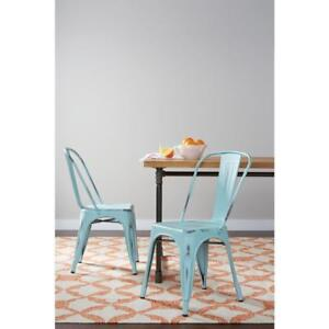 Bristow Antique Sky Blue Metal Side Chair (Set of 4) NEW ** 5 CORNERS FURNITURE**