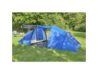 ProAction 6 Man Tent 2 Rooms Easy pitch up Used Once - Blue