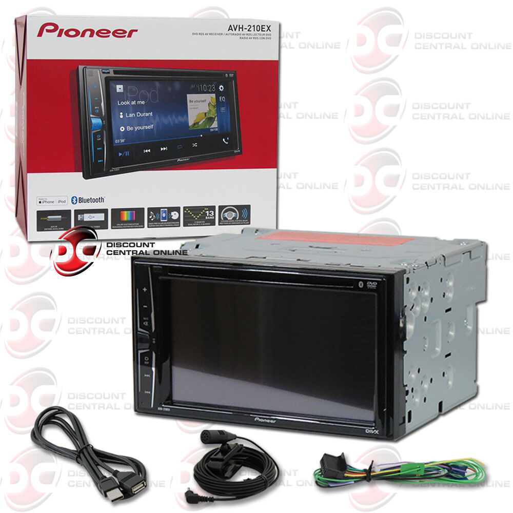 "PIONEER AVH-210EX CAR DOUBLE DIN 6.2"" TOUCHSCREEN USB DVD CD BLUETOOTH STEREO"