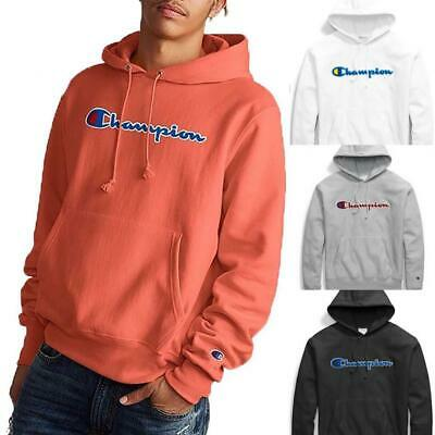 Champion Life Men's Reverse Weave Pullover Fleece Hoodie, Chenille Script Logo (Champion Life Mens Reverse Weave Pullover Hoodie)