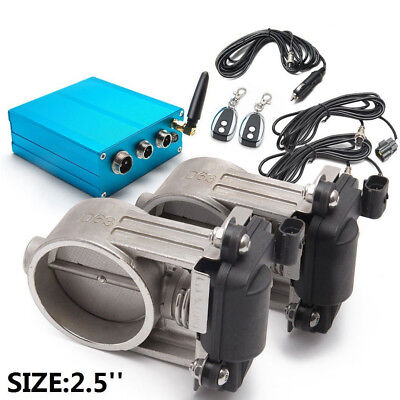 """Exhaust Control Valve Dual Set w Remote Cutout Control For 2 sets 2.5"""" 63mm Pipe"""