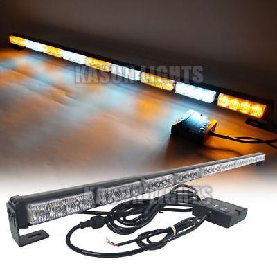 38 36 Led Emergency Strobe Light Bar Dretional Allow Flash Warning Amber White