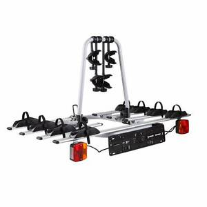 FREE SHIPPING Bicycle Carrier Rack w/ Tow Ball Mount Black Silver Melbourne CBD Melbourne City Preview