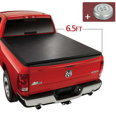 Roll Up Tonneau Cover For 2009-2020 Dodge Ram 1500 2010-2018 2500/3500 6.5FT Bed