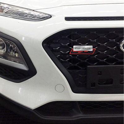 Front Hood Radiator Grille Gt Point Emblem Logo Badge For Hyundai 2018 Kona