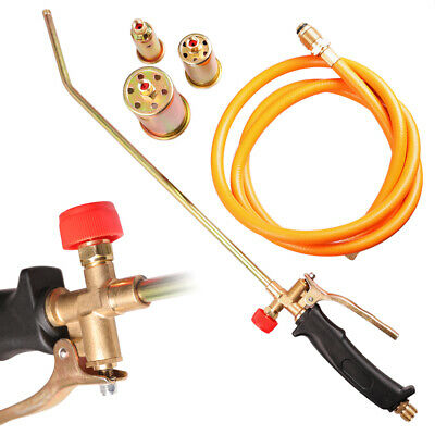 Portable Propane Weed Torch Fire Burner Lawn Ice Melter W 60 Hose 3 Nozzles