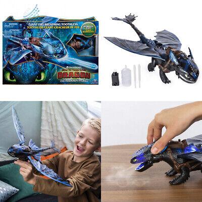 Dreamworks Dragons, Giant Fire Breathing Toothless, 20-inch Dragon with...  - Fire Breathing Dragon