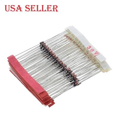 140 Pcslot 12w 0.5w Zener Diode 3.3-30v Assortment Kit 14 Value Pack