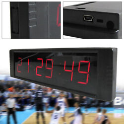 Large Digital LED Wall Clock IR Control 24/12 Hour Display Timer Modern Style