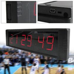 24/12 Hour Display Timer Alarm Large Modern Digital LED Wall Clock + IR Control