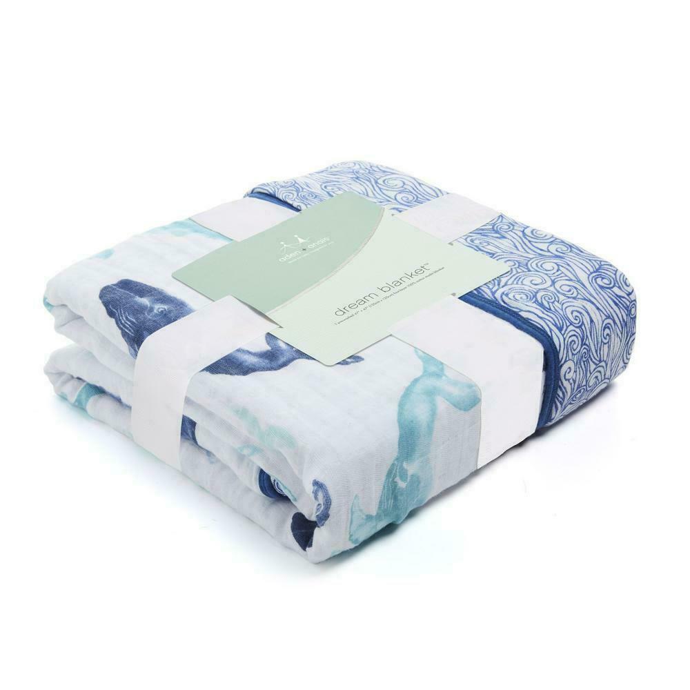 Aden + Anais Dream Blanket, 100% Cotton Muslin, 4 Layer Ligh