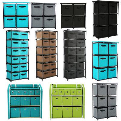 4/6/11/12 Drawers Storage Organizer Clothes Toys Storage Bins Rack Shelf -
