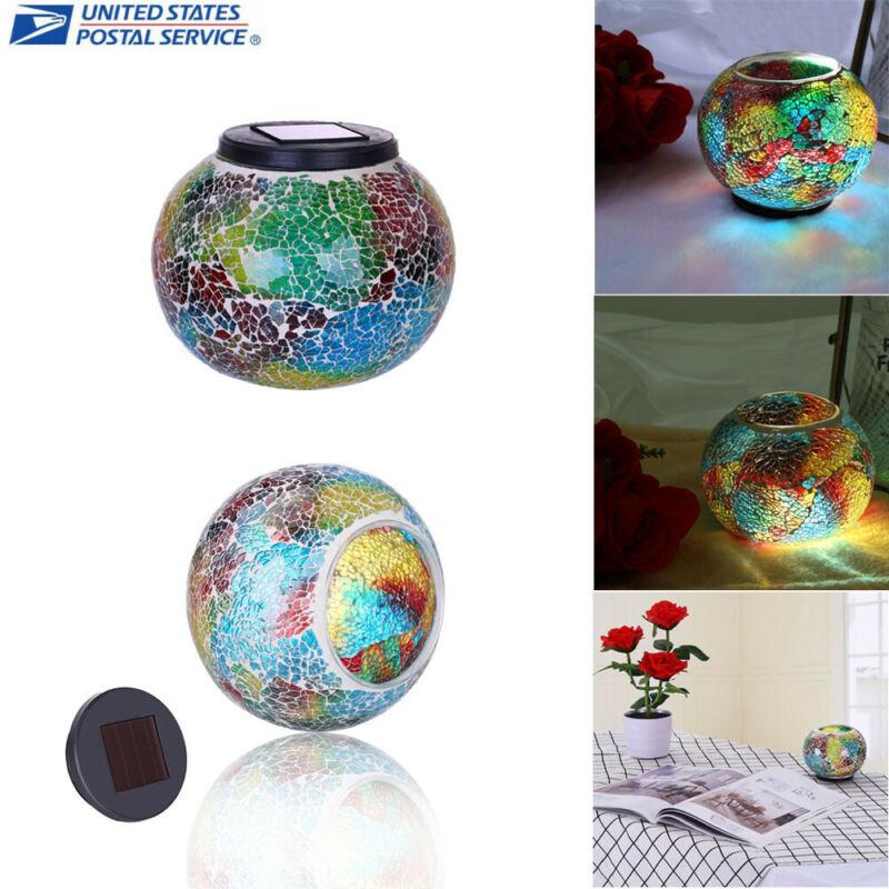 Solar Powered Glass Ball Led Garden Lights Table Lamps For D