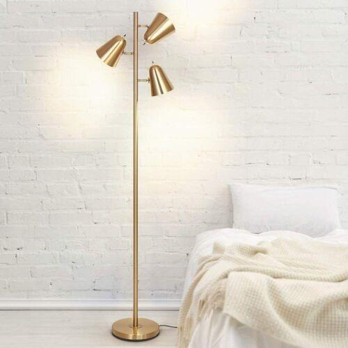 Adjustable Floor Lamp Modern Pole Lamp 3 Light Tree Standing Tall Lamp Gift