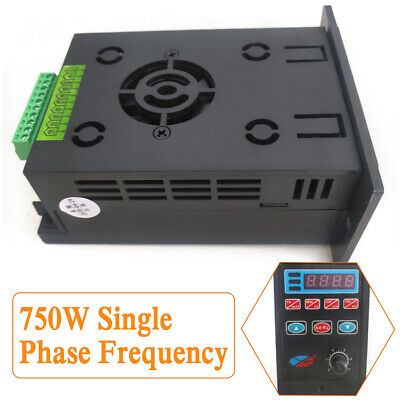Ac110v220v Single To 3 Phase Variable Frequency Drive Inverter Converter 750w