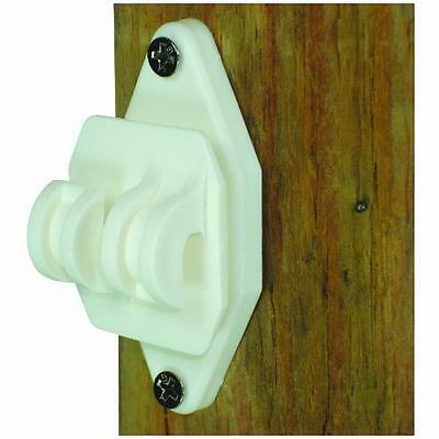 Field Guardian 100-pack Wood Post Nail On Insulator For Hi-tensile White New