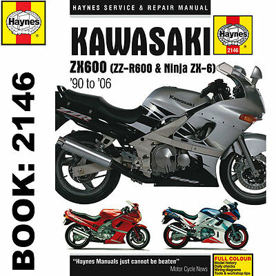 Kawasaki ZX600 ZZ-R600 Ninja ZX6 1990-2006 Haynes Workshop Manual