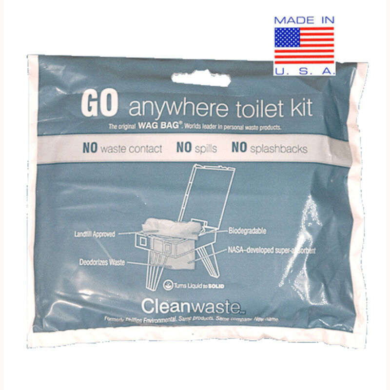 Cleanwaste GO Anywhere Toilet Waste Kits-12/Pack (D019W12 )