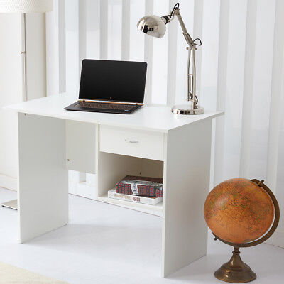 Home Office Desk Computer Table Workstation with 1 Drawer / Storage White RayGar