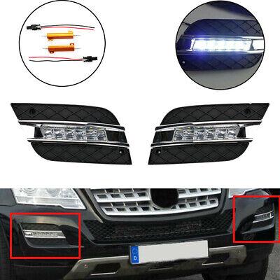 Paar LED Tagfahrlicht DRL Lampe Für Benz W164 M-Klasse ML320 ML350 2008-2011 #D