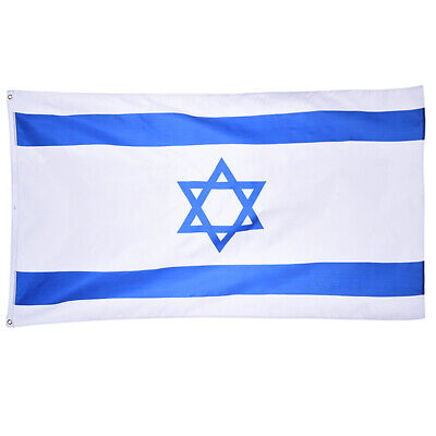 Israel Flag 5x3FT/150x90cm Polyester National Flag Perfect for Outdoor & Indoor