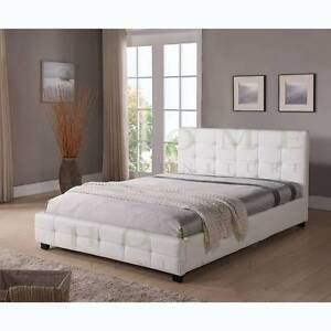 BRAND NEW Modern Black and White PU leather BED FRAME - TOMMY Melbourne CBD Melbourne City Preview