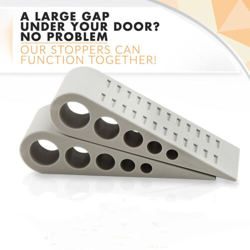 3 Pcs Door Stopper Rubber Stop Floor Wedge Holder Doorstop