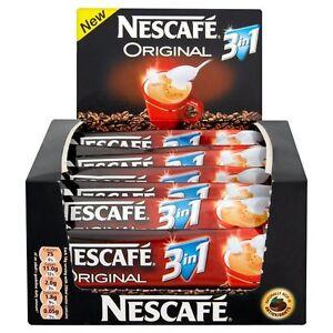NESCAFE Original 3 in 1 Sachets x 10 Coffee White & Sugar Free & Fast P&P