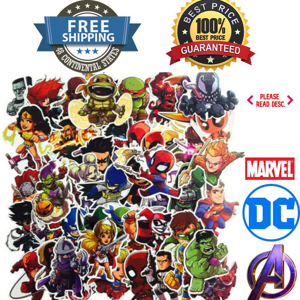 Home Decoration - Stickers MARVEL Avengers Super Hero DC Vinyl Laptop Skateboard Decal INDIVIDUAL