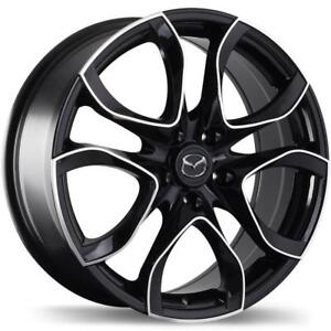 """Mazda M003 Alloy Rims (Gloss Black Finish with Machined Face) - 16""""/17""""/18"""""""