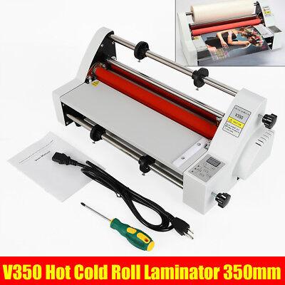 V350 13 Hot Cold Roll Laminator Singledual Sided Laminating Machine 110v New