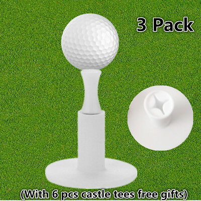 Rubber Golf Tees Holder For Golf Driving Range Tee Practice Tool White 3 Pack US