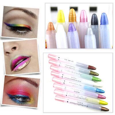 Glitter Lip liner Eye Shadow Pencil Cosmetic Makeup Eyeliner Pen-20 Colors