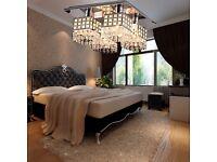 Job Lot 2 x Modern Ceiling Light Crystal Fixture Flush Mount 4 Lights ..RRP£89 EACH