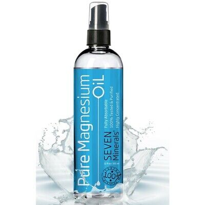 PURE Magnesium Oil Spray 12oz 100% Absorbable Reduce Stress High Quality