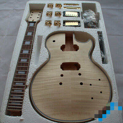 Best quality DIY Unfinished LP Guitar Kit mahogany neck and body all