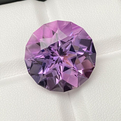Certified Natural Precision Cut Purple Amethyst 24.12 Cts Round Loose Gemstone