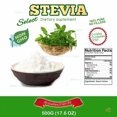 500G (17.6 oz) STEVIA EXTRACT POWDER - 100% PURE STEVIA POWDER