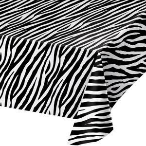 Bulk Zebra Print Plastic Tablecloths, 6ct