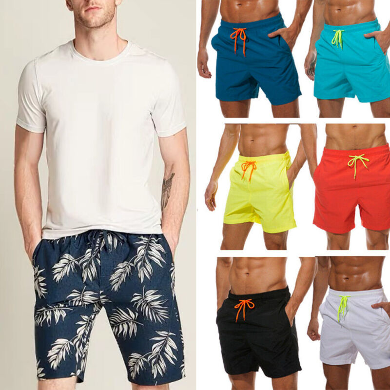 Mens Beach Surf Quick Dry Boardshorts Swim Trunks Surfing Shorts Swimwear