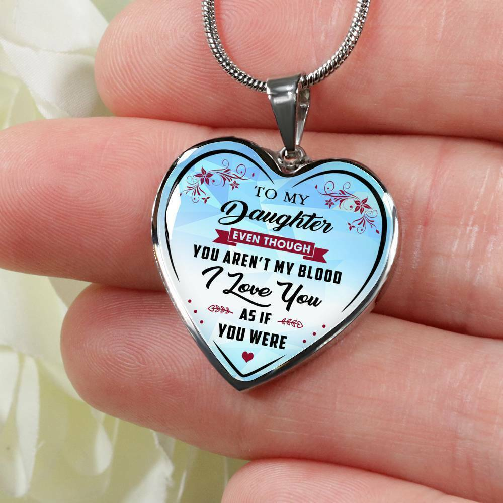 To My Daughter Necklace From Step Mom Dad - Step Daughter Un