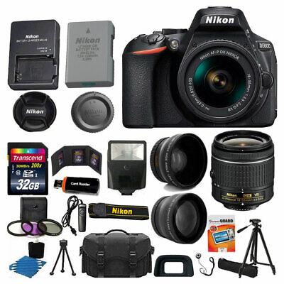 Nikon D5600 Digital SLR Camera 3 Lens Kit 18-55 VR Lens + 32GB Best Value (Best Digital Slr Camera)