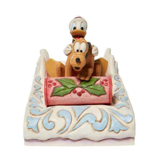 Jim Shore Disney DONALD and PLUTO SLEDDING Figurine 6008973 Winter 2021 NEW