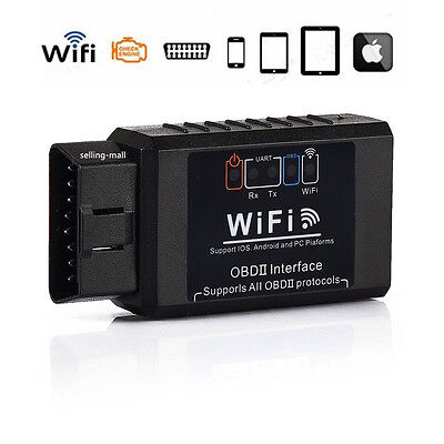WiFi OBD2 OBDII ELM327 Car Diagnostic Scanner Tool For iPhone Android PC
