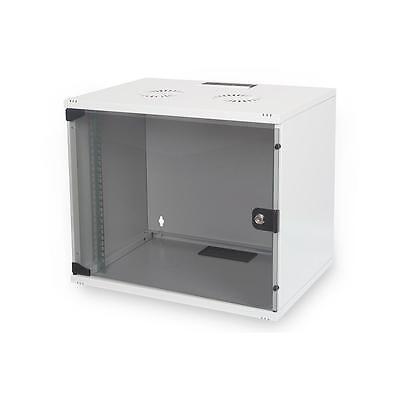 """DIGITUS SoHo 19"""" Kompakt Wandgehäuse Serverschrank 9HE Metall Abschließbar Grau"""