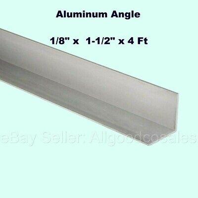 Aluminum Angle 18 X 1-12 X 4 Ft Length Unpolished Alloy 6061 90 Stock