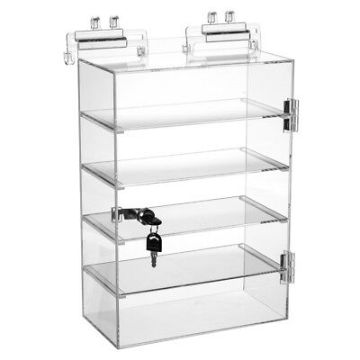 Retails Acrylic 5 Shelves Showcase With Lock 10 12 W X 5 12 D X 15 H